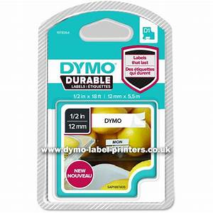 dymo durable 12mm black on white d1 tape new dymo With dymo label stickers