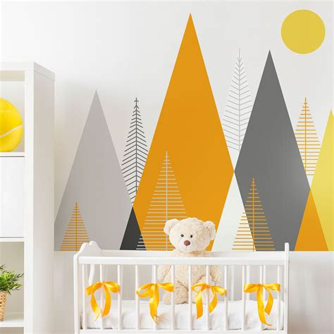 stickers enfant montagnes scandinaves antartika en