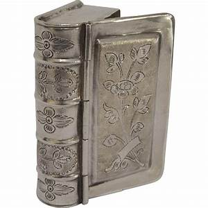 Antique Silver Figural Book Box From Kirstenscorner On Ruby Lane