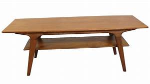 195039s danish modern teak coffee table modernism With 50s coffee table