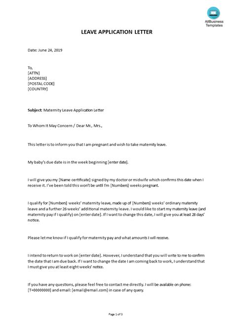 Resignation Letter Due To Pregnancy Database   Letter Template Collection