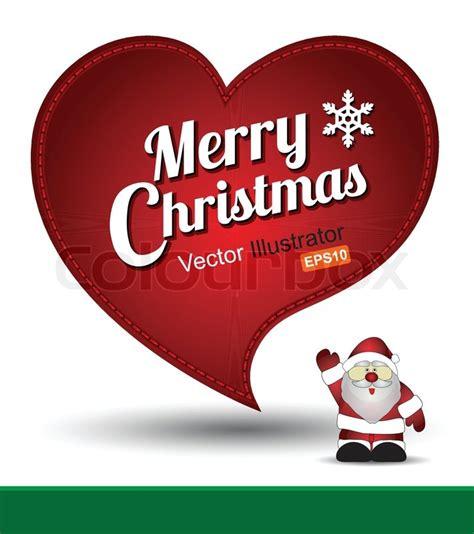 merry christmas heart stock vector colourbox