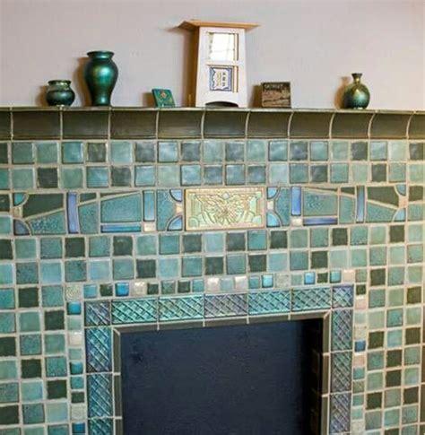 pewabic pottery tile fireplace surround fireplaces