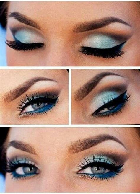 chic blue eye makeup   tutorials pretty designs