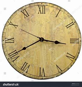 old style round wall clock roman stock photo 2334343 With roman letter wall clock