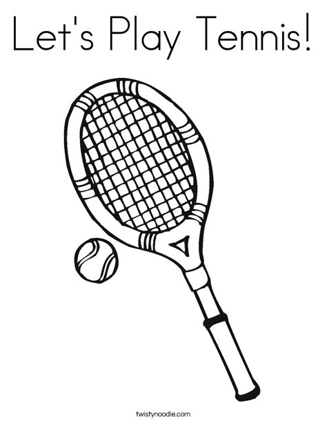 lets play tennis coloring page twisty noodle