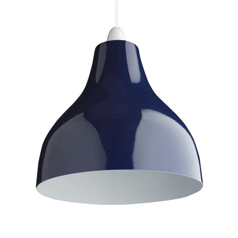 retro cafe bistro metal lighting pendant shades blue