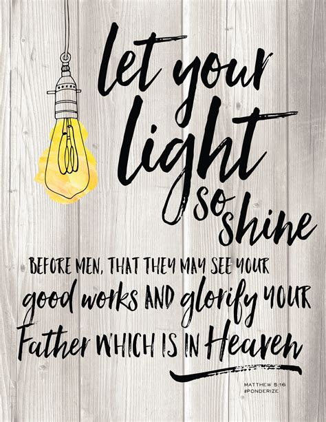 scriptures on light ponderize this let your light so shine whipperberry