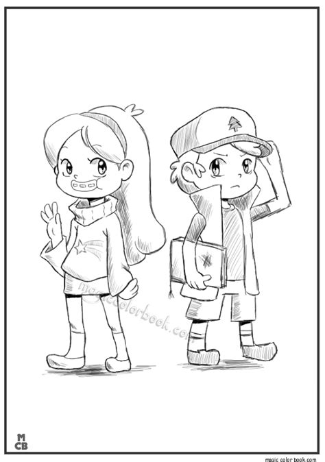 gravity falls coloring book disney coloring pages