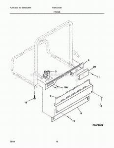 Frigidaire Gallery Dishwasher Parts Diagram