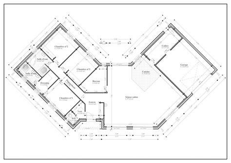 maison plein pied 4 chambres finest gorgeous plan maison en u plan de maison m plein