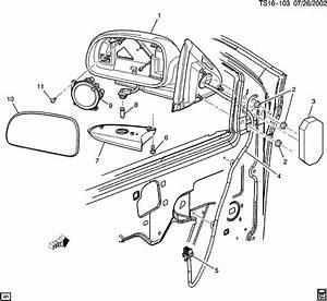 2004 Oldsmobile Bravada Actuator  Rear View Mirror