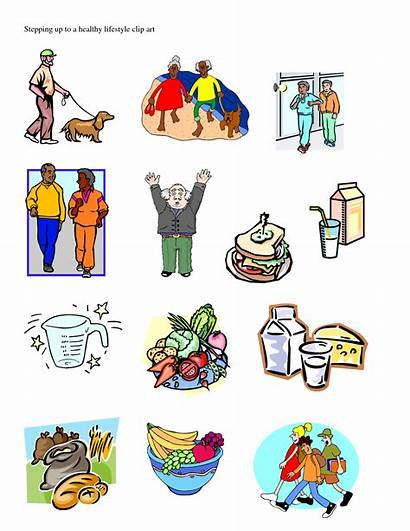 Healthy Lifestyle Clipart Cliparts Clip Living Health