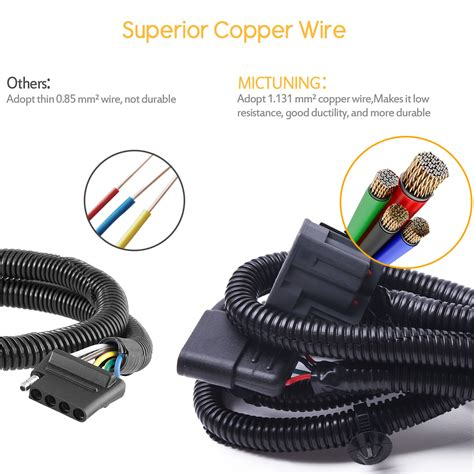 Mictuning Trailer Hitch Wiring Harness Kit Way