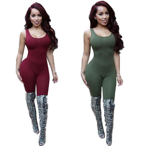 Aliexpress.com  Buy Backless Jumpsuit Body Tank Top Sexy Romper Bodysuits Plus Size Rompers ...