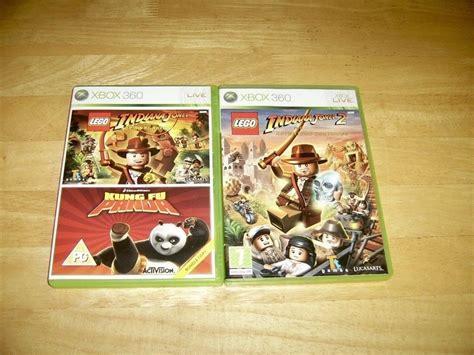 Xbox 360 Lego Indiana Jones 12 Kung Fu Panda Bundle