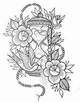 Coloring Adult Mandala Tattoo Printable Flores Tattoos Flowers Hourglass Blank Drawings Printables Tatuaje Dibujos Mandalas Coloriage Ideen Patterns Books Traditional sketch template