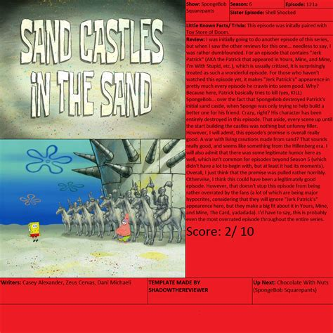 Sand Castles In The Sand Review By Shadowthereviewer On