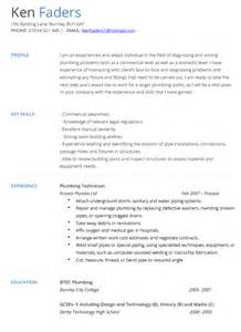 plumbing assistant resume exles plumbers cover letter