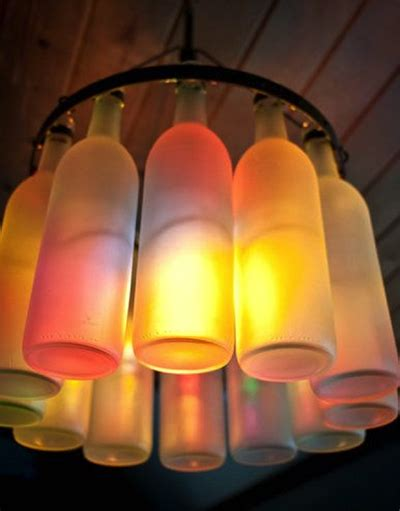 ten chandeliers made from recycled bottles recyclenation