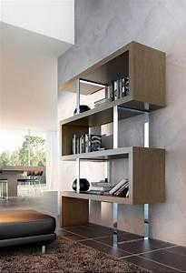 meuble de rangement design pour un sejour aux touches With meuble pour ranger les livres