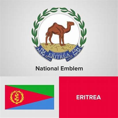 Flag Eritrea National Emblem Map Vector Vectors