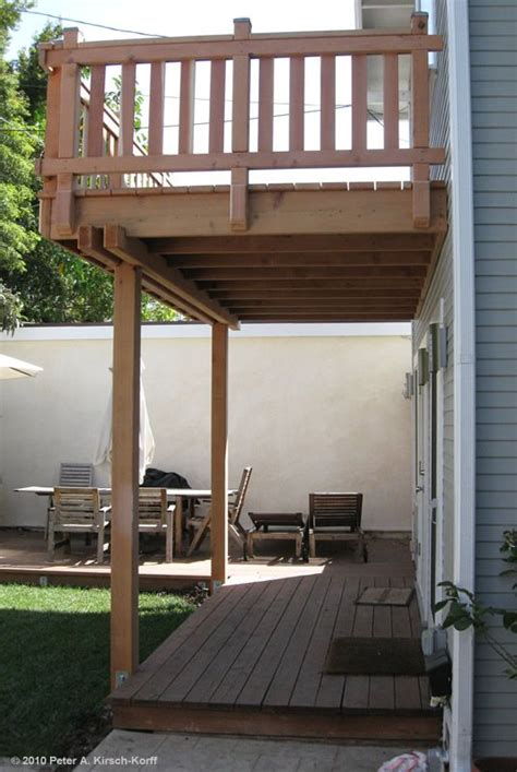 Two Story Deck Ideas by 2 Story Deck Designs Craftsman Second Story Wood Deck