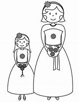 Coloring Bridesmaid Pages Flower Printable Bride Printables Drawing Groom Sheknows Flowergirl Activity Weddings Books Clipart Dream Colouring Sheets Cartoon Childrens sketch template