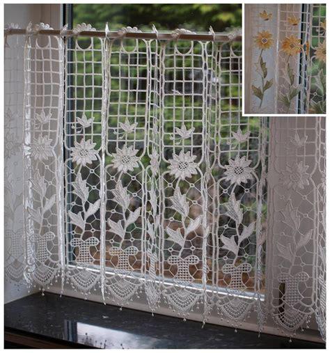 d馮lacer en cuisine macrame dentelle prêts cafe cuisine rideau panneau 24 in environ 60 96 cm drop ebay