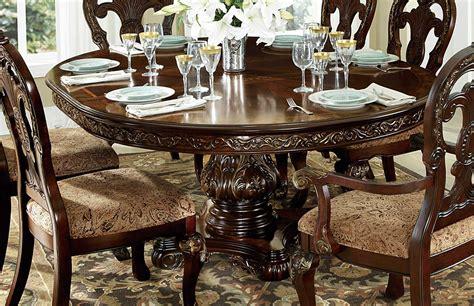 homelegance deryn park  pedestal dining table