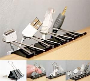 Rangement Cable Bureau : c ble impressionnant and chargeur on pinterest ~ Premium-room.com Idées de Décoration