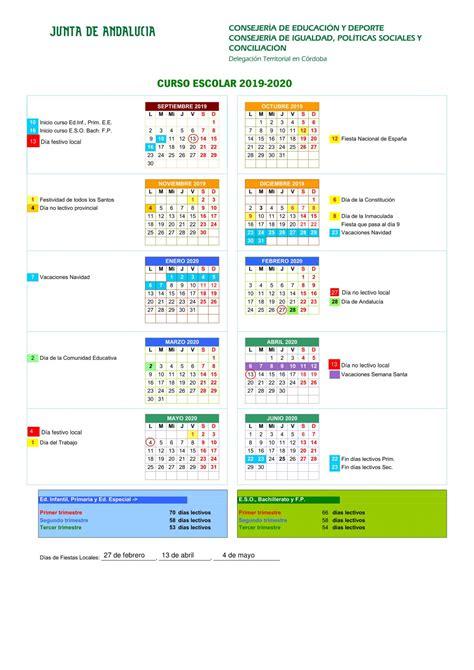 calendario escolar ies juan de arejula