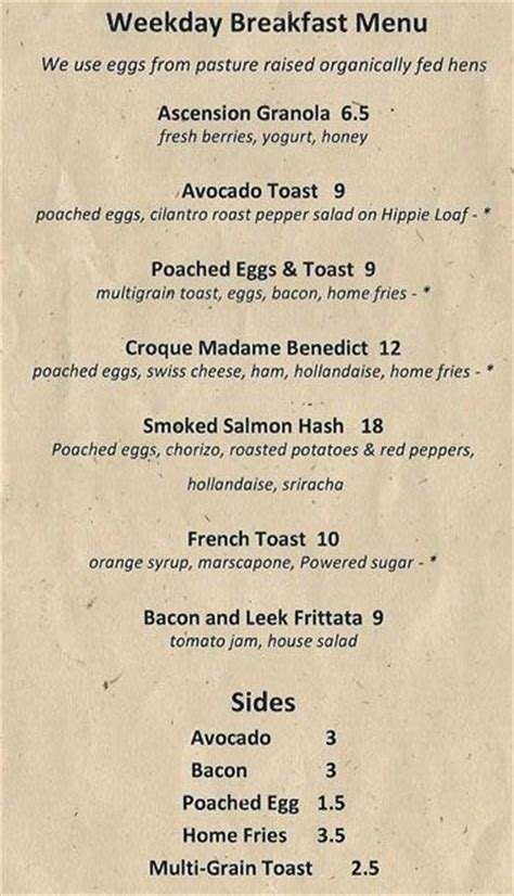 Please add a review after your dining experience to help others make a decision about where to eat. Ascension Coffee Menu, Menu for Ascension Coffee, Design District, Dallas - Urbanspoon/Zomato