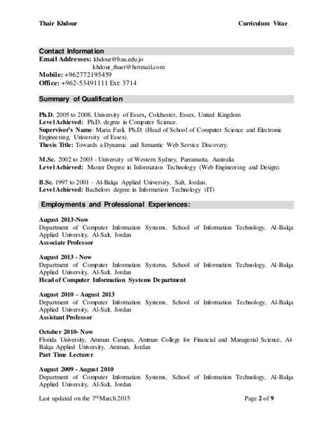 Dr Khdour CV