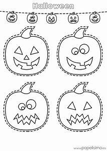 Dibujos de calabazas de Halloween para recortar - PAPELISIMO