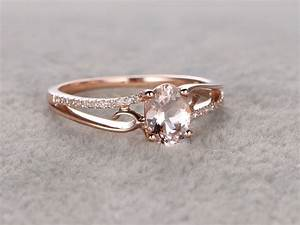 6x8mm oval morganite engagement ring diamond wedding ring With engagement wedding ring
