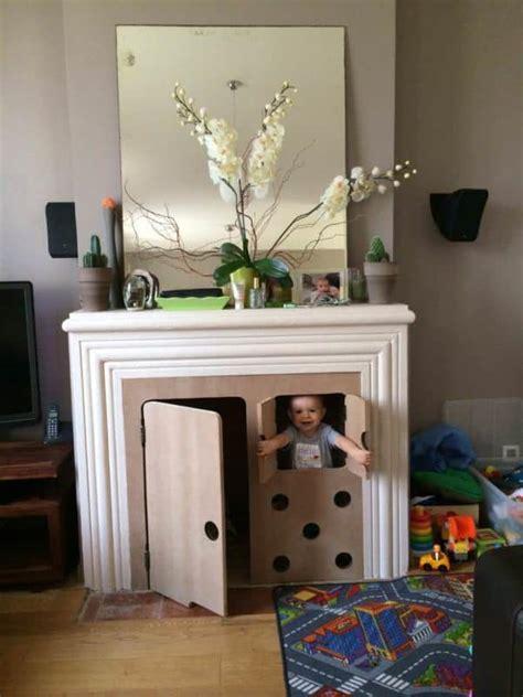 turn  fireplace   hut  kids recyclart