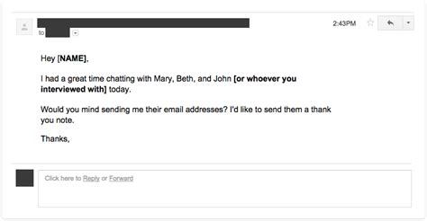 Don T Send A Resume by How To Send The Thank You Email After Your