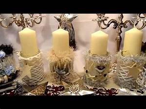 Deko Zum Selber Machen : diy pomp se weihnachts deko gl ser adventskranz kerzen deko zum selber machen upsycling youtube ~ Watch28wear.com Haus und Dekorationen