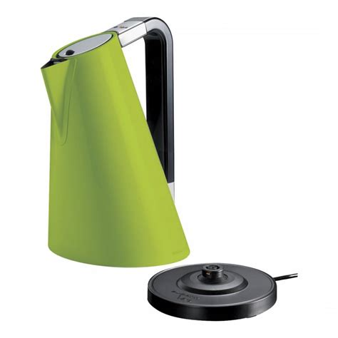 The volume combines cone and ellipse, giving dynamism and personality. Bugatti Easy Vera Green Kettle - BrandAlley