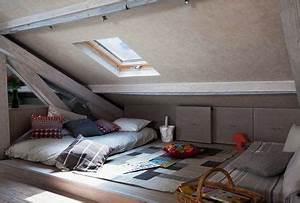 Comment Transformer Ses Wc En Espace Déco : 30 m2 bien agenc s sous les combles c t maison ~ Melissatoandfro.com Idées de Décoration