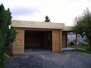 Garage En Bois Toit Plat : garage en bois une place toit plat ~ Dailycaller-alerts.com Idées de Décoration