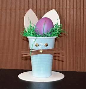 Basteln Mit Plastikbecher : osterhase aus einem pappbecher osternest basteln ~ Orissabook.com Haus und Dekorationen