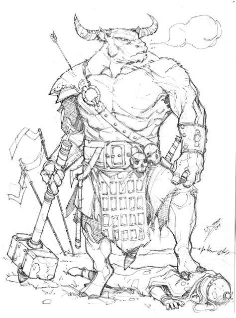 minotaur  max dunbar  deviantart armor clothes