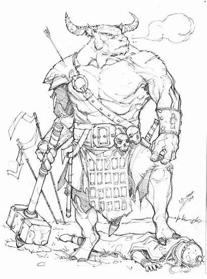 Minotaur Max Dunbar Deviantart Dragons Dungeons Armor