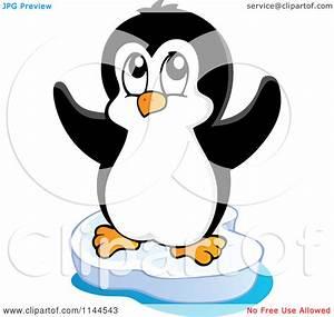 Cute penguin clipart outline collection
