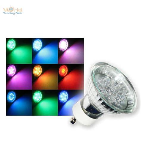 Gu10 Led Strahler Rgb Farbwechsel Bunt Spot Lampe 230v Ebay