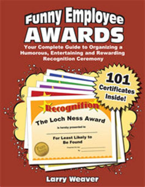 funny office awards  funny award ideas  employees
