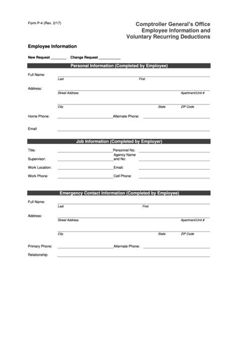 employee information form pdf 82 employee information form templates free to in pdf