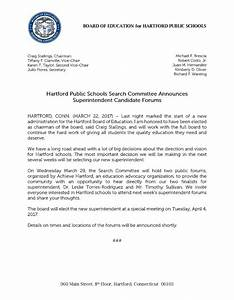 Hartford Public Schools Search Committee Announces ...